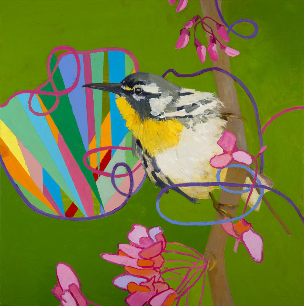 "Deirdre Murphy,  Red Bud , OIl on Canvas, 30"" x 30,"" 2015, Courtesy of Gross McCleaf Gallery   www.deirdremurphyart.com"