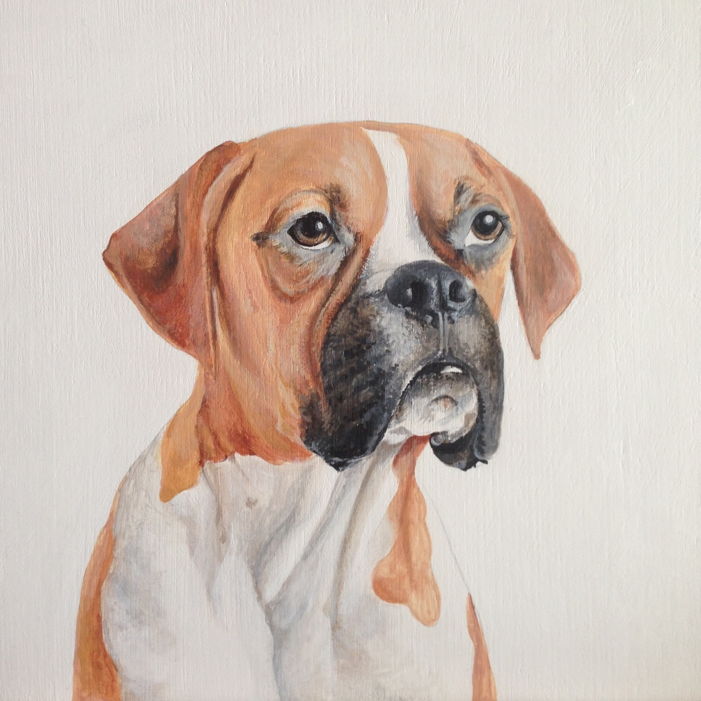 Nacho, for Jillian Harris. Acrylic on Wood.