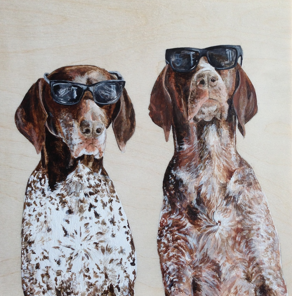 Cool dudes the Pointer Brothers. Acrylic on Wood. @ifitwags