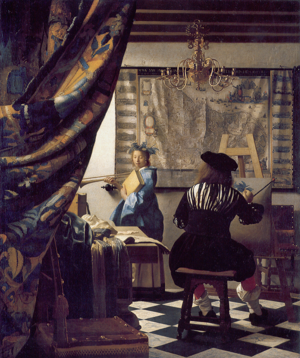 The Artist in his Studio  J. Vermeer