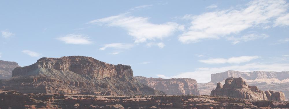 Final painting of mountain range