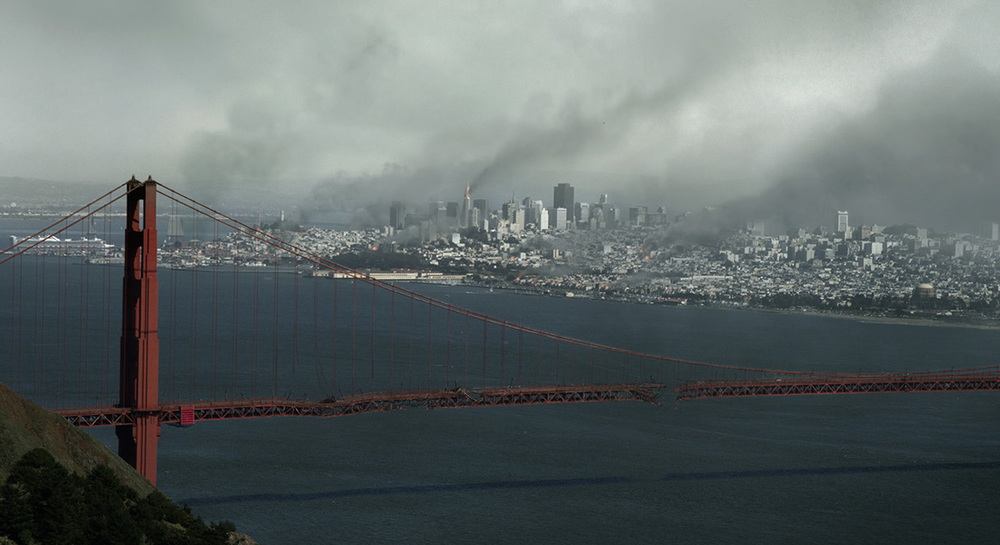 Bombed San Francisco final painting