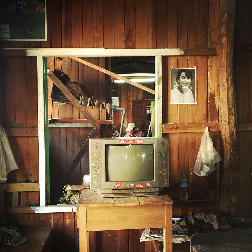 Inle Lake, Myanmar – Inside the silver smith shop.