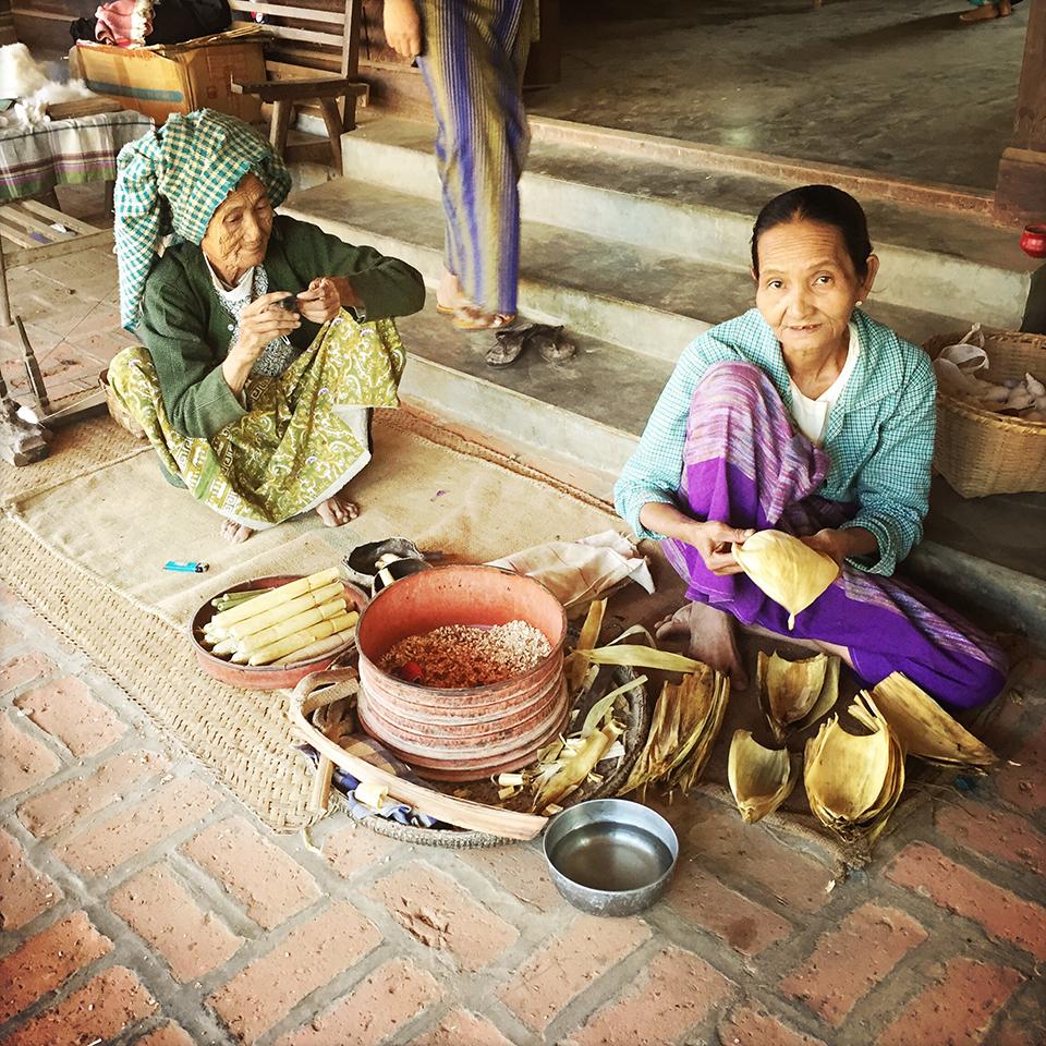 Minnanthu village, Bagan, Myanmar – Homemade cheroot.