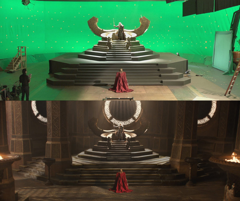 Odin's Throne Room: Final matte painting shot