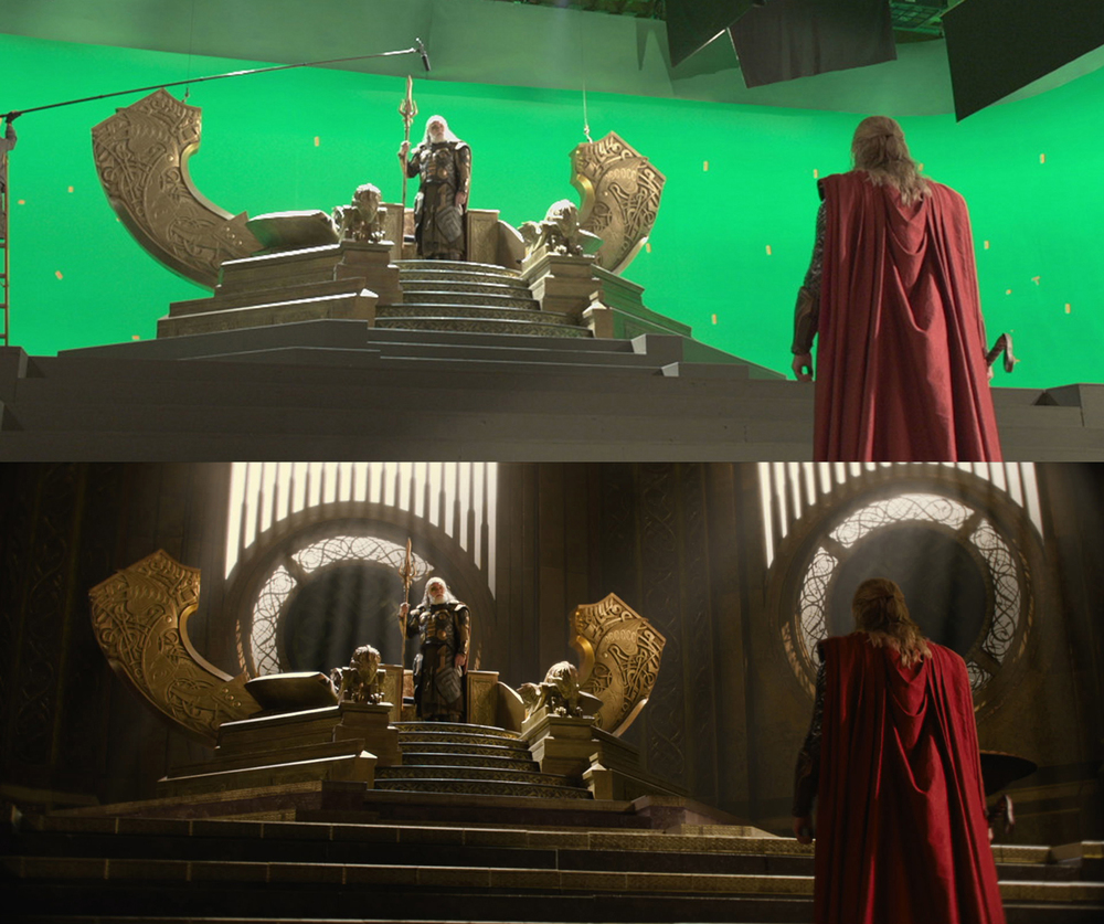 Odin's Throne: Final matte painting shot