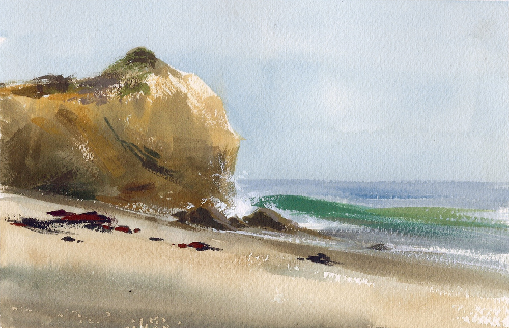 El Matador Beach. Watercolor and gouache, 2013