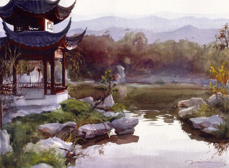 Liu Fang Yuan  at the Huntington Library, 2011