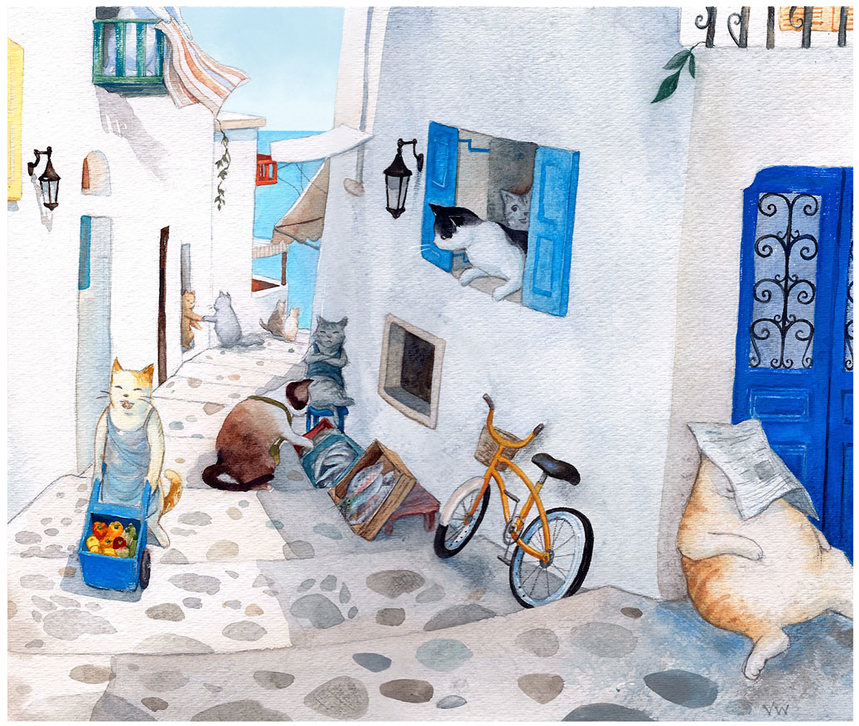 Greek cat village