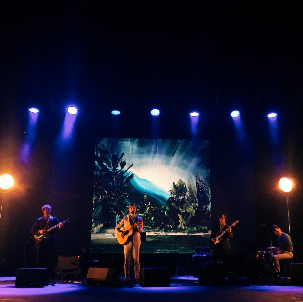Bill Callahan uses our Leisure Coast album cover (Paul Ryan) as a backdrop to his Sydney Opera House show.