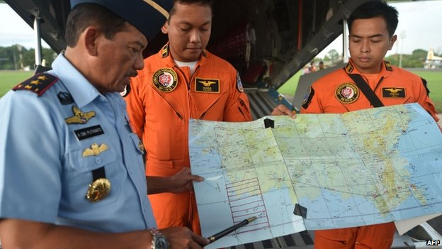 Search and rescue operations are now in their third day, nearing 60 hours after Flight QZ8501 lost radio contact