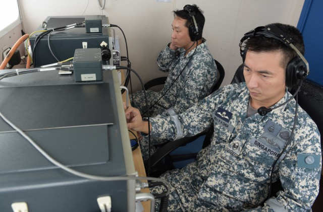 Underwater Telephony Specialists on board Singapore's MV Swift Rescue hope to receive signals emitted from the black box. They have been working for three days in designated search areas in the southern coast of Borneo