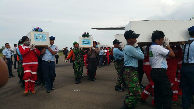 10 bodies are leaving Pangkalan Bun for Surabaya