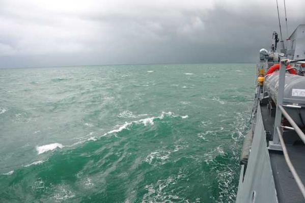 Current sea conditions are hampering search operations, Malaysia's Chief of Navy Abdul Aziz Jaafar said on Twitter. Only one of the three bodies found yesterday by Malaysian vessel KD Pahang was recovered due to the rough conditions, he said