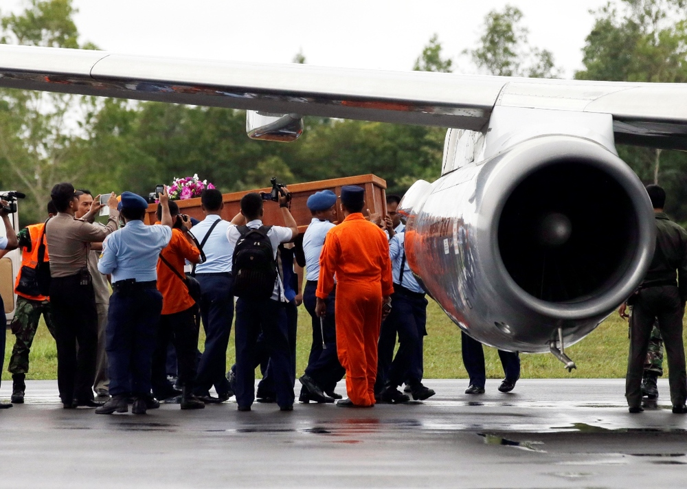 Bodies found at the search site will be sent to Pangkalan Bun's Imannudin hospital to be inspected by the Disaster Victim Identification Uni. They will then be put into coffins and sent to Surabaya, said BASARNAS Vice-Marshall Sunarbowo Sandi, according to the AP. Two coffins with bodies of QZ8501 victims have left Pangkalan Bun for Surabaya, following inspection by the Disaster Victim Identification Unit. Five more bodies found at the search site are still on an Indonesian navy ship