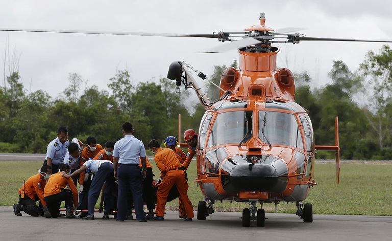 Two bodies have been brought to the holding area in Pangkalan Bun from sea via helicopter