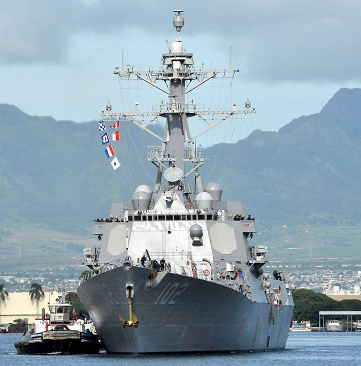 The US Navy has said that the USS Sampson, a destroyer, will be deployed. It is scheduled to reach the search area later on Tuesday
