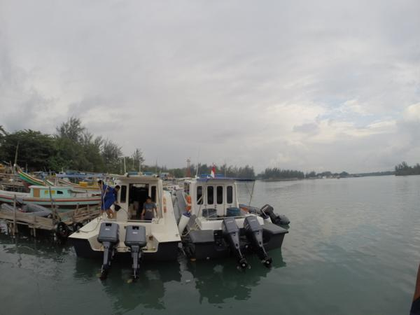 The weather at the Belitung Island search zone is cloudy, with waves approximately 1m to 2m high, said Chief Commander of the Manggar Navy Base Purwanto. He adds that it will probably rain, but the search for the missing jet will still continue, except in extreme conditions