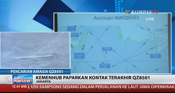 "The fishermen who spotted objects in waters were ""afraid to go near"" due to water conditions, according to our reporter"