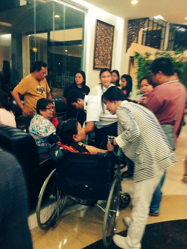 Elderly passengers of AirAsia flight that overshot runway at Kalibo getting blood pressure checked