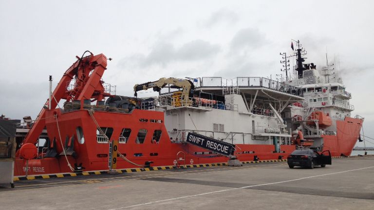 ingapore's MV Swift Rescue is set to leave around 7pm to take part in search efforts. The vessel has deep water search and rescue capabilities