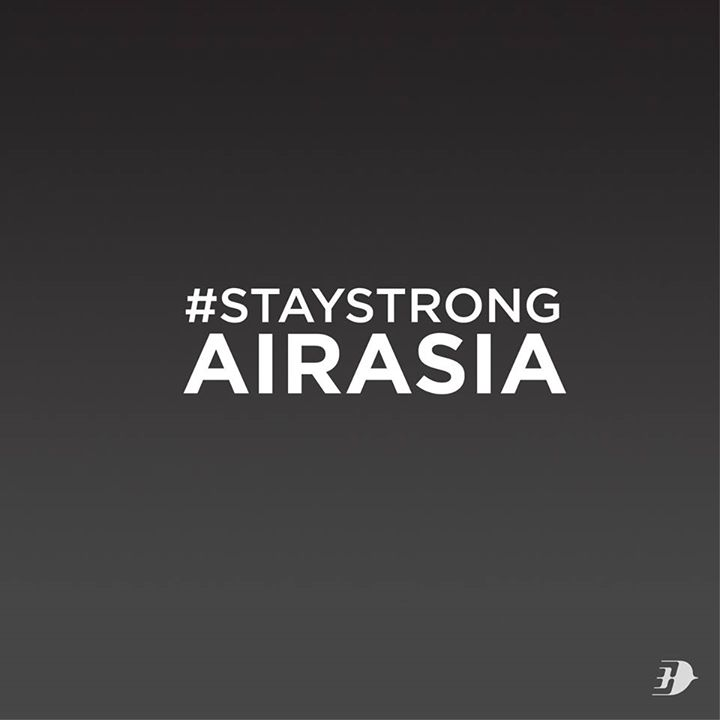 "Malaysia Airlines posts a message of support: ""Our thoughts and prayers are with family and friends on board AirAsia QZ8501"