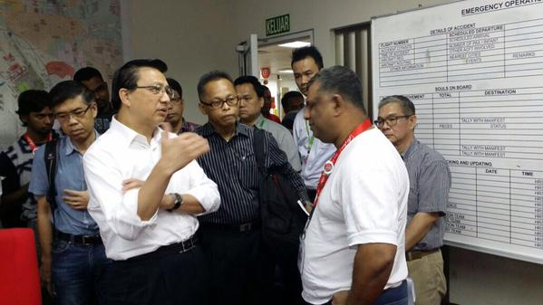 Transport Minister Liow Tiong Lai tweeted that he is currently at AirAsia's headquarters to lend his support