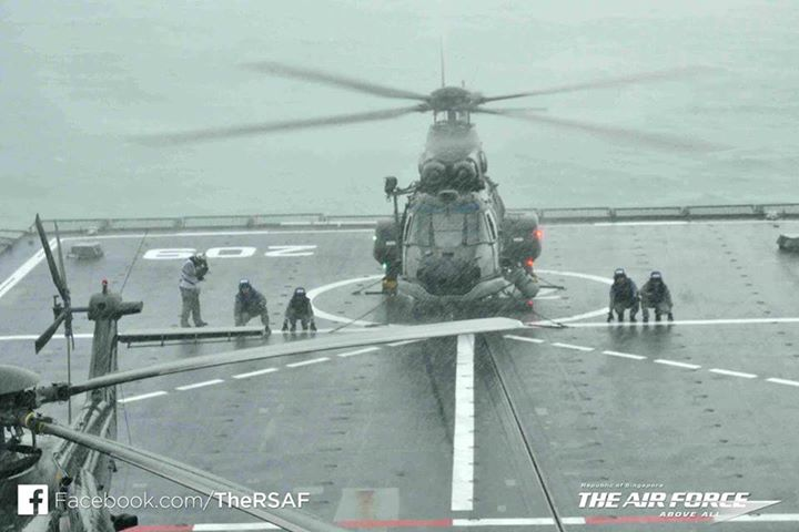 A Super Puma pilot, explains how the Singapore team is conducting the search operations for AirAsia flight ‪‎QZ8501‬, while operating off the RSS Persistence.The unpredictable weather has been challenging for the team, resulting in limited launch windows for them to carry out the search, he says