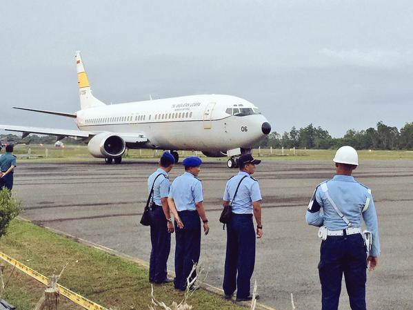 TNI Commander General Moeldoko has left Pangkalan Bun, our correspondent Jack Board reports