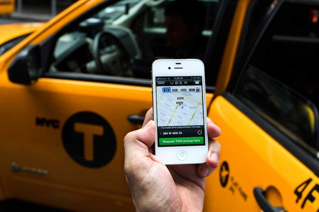Uber's disruptive services are a major threat to taxi drivers in New York, considering  Yellow Cab drivers need to pay close to a million dollars for a license to operate in New York