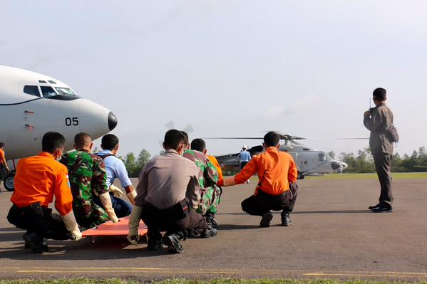 Another body, said to have been recovered at sea yesterday, has just arrived at Pangkalan Bun via helicopter