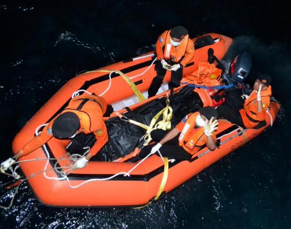 The Royal Malaysian Navy said on Friday that it had handed over the two bodies recovered by its ships to Indonesia's search and rescue agency BASARNAS