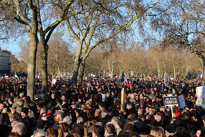 Supports in Bordeaux also took part in the nation-wide Unity Marches on the 11th of January