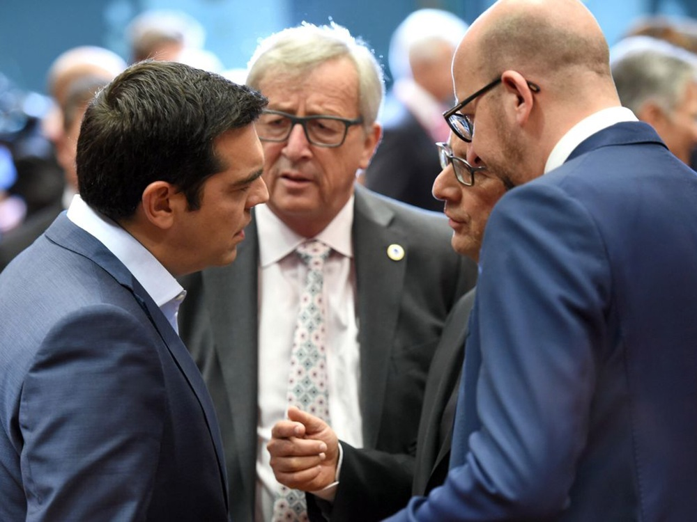 Sunday's 17-hour bargaining session at the Eurogroup summit led to a deal Tsipras had begged for. His supporters were the French and Spaniards.  Photo: AFP