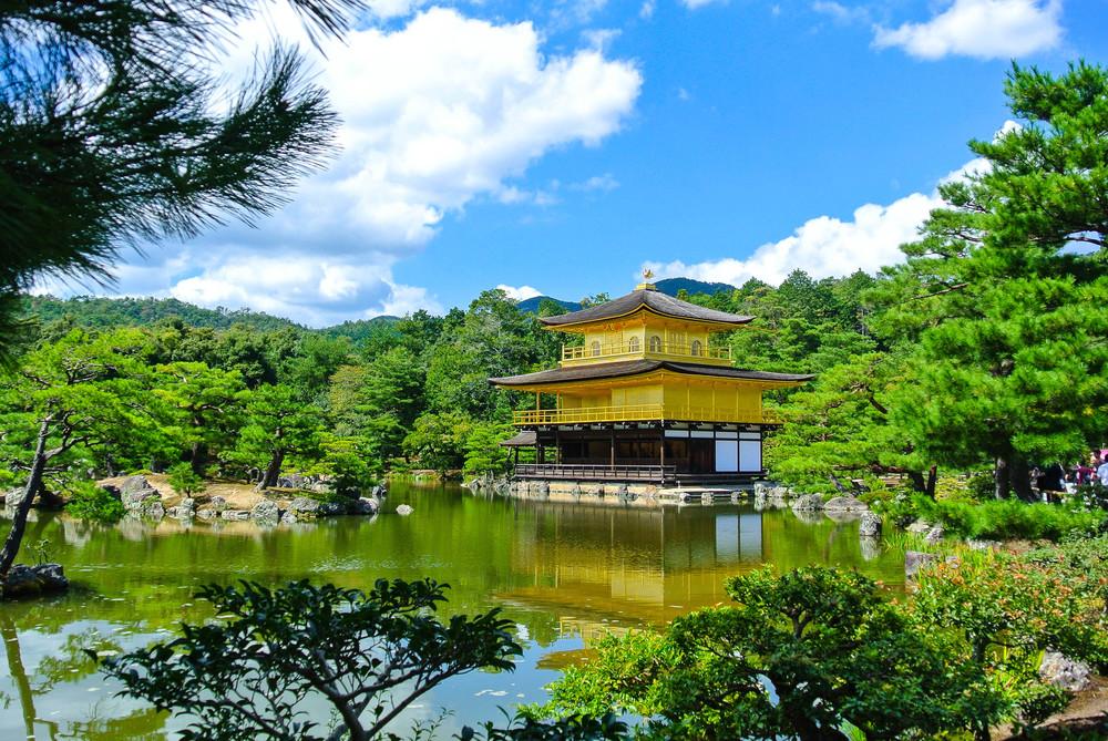 """Japan's famous """"Golden Temple""""."""
