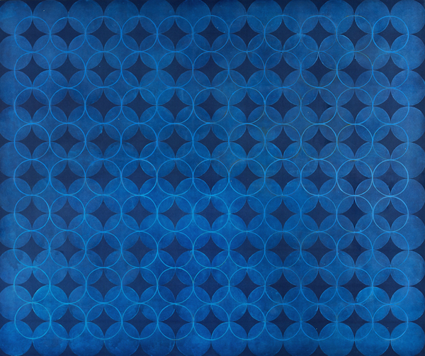 Eveline Kotai - Helio Blue 2006, 152x185, oil on canvas, collection of artist