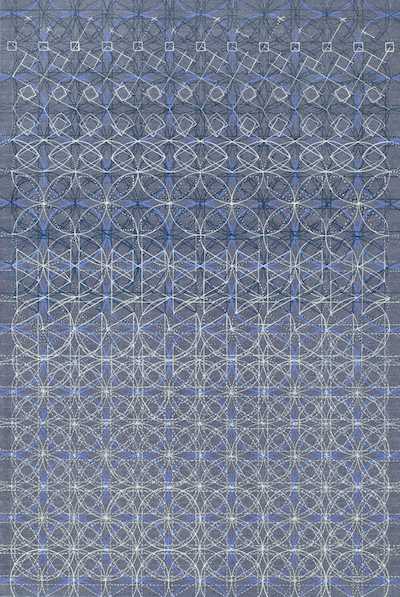 Eveline Kotai - Blueprint 2012 - acrylic, Japanese paper on board, 110x75cm, private collection