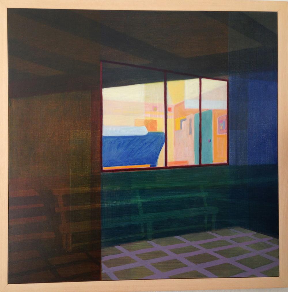 Eveline Kotai - Studio View 2, oil on board, 60x60cm, private collection