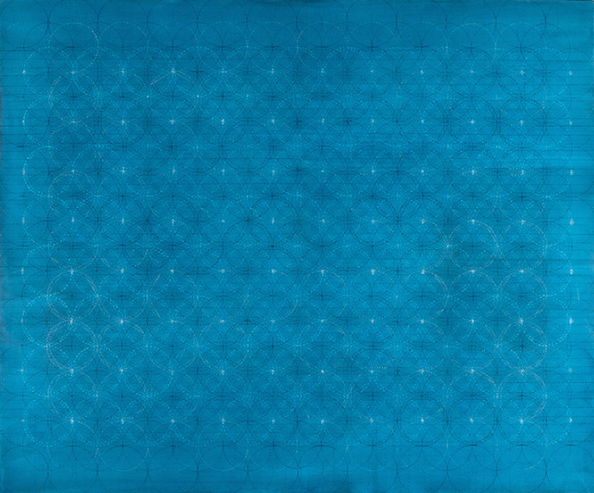 Eveline Kotai - Blueprint in the Sand - Oil on Canvas, 150x185cm, collection of artist