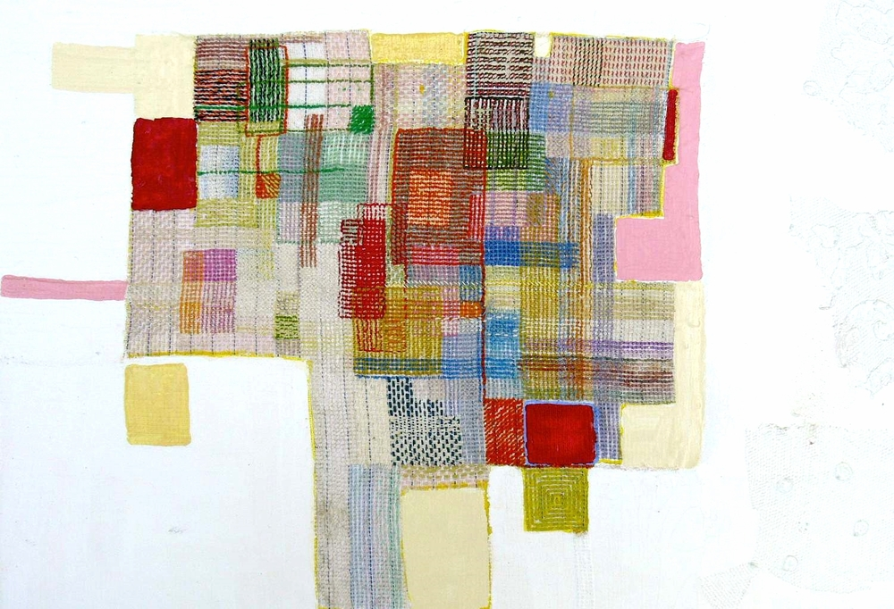 Eveline Kotai - Stitch Sampler 2, 2010-2015, wool and silk thread, canvas on board, collection of artist