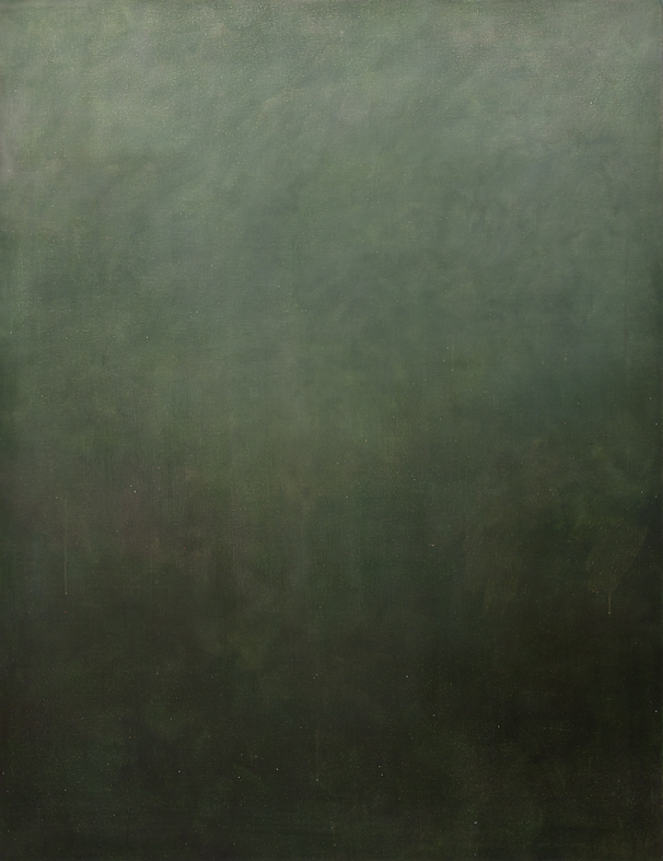 Eveline Kotai  - Falling into Green 2011, oil on canvas, 150x115 cm, private collection