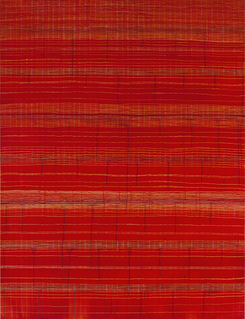 Eveline Kotai - Sari Red 2010, 150x115cm, Oil on Canvas, private collection