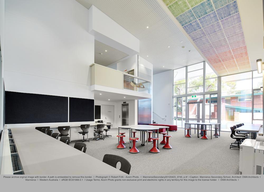 Eveline Kotai + Darryl Way & Associates; Wanneroo Senior High School Stage 2. Photo: Robert Frith (Acorn).