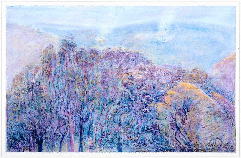 Eveline Kotai - April Haze 1988, pastel on Arches, 57x76cm, private collection