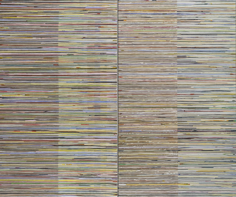 Eveline Kotai - Middle Ground, 2016, mixed media, 152x200cm