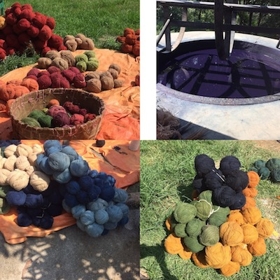 Hand-dyed wool from Tibetan sheep raised in Nepal.