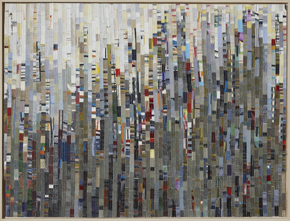 City Shapes Recut 3 2012, oil, acrylic and nylon thread on linen, 65 x 80cm. Private Collection.