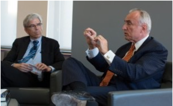 Professor Romer and Police Commissioner Bill Bratton