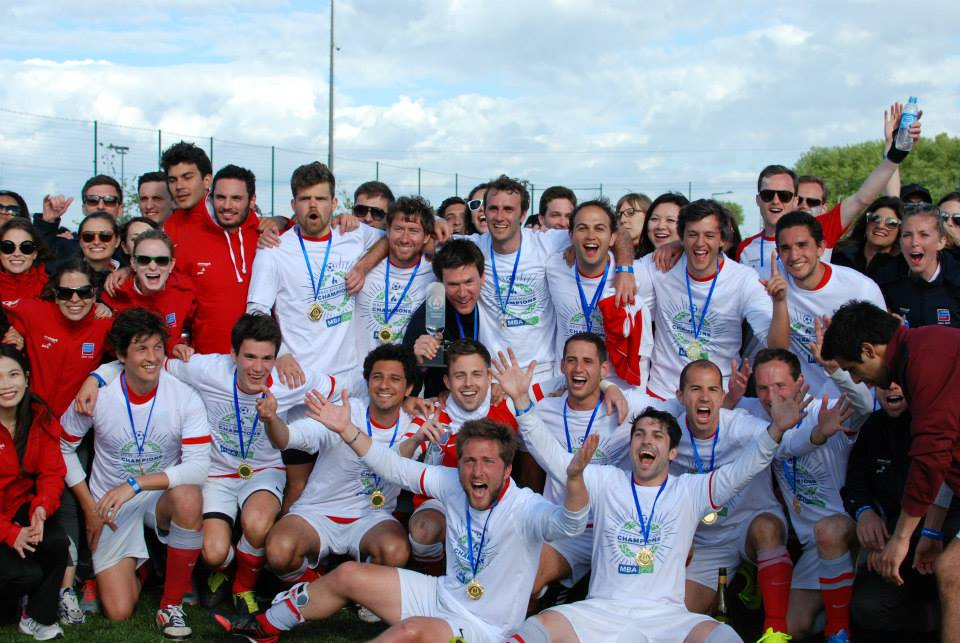 #1.  Men's football champs, London Busines School, in MBA Only shirts... ;) (via MBAOnly)