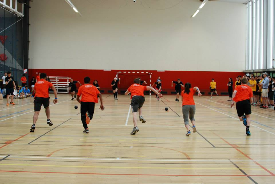 #6.  RSM dodgeball team bringing it!  #OrangePower (via MBA Only)
